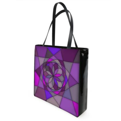 Beach Bag - Purple spiral