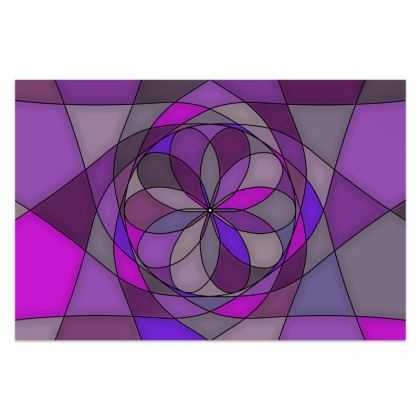 Sarong - Purple spiral