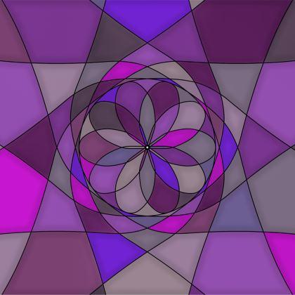 Towels - Purple spiral