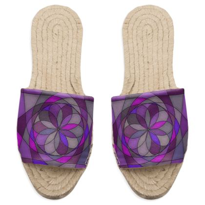 Sandal Espadrilles - Purple spiral