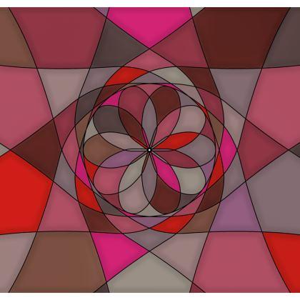 Men's Swimming Shorts - Red Spiral