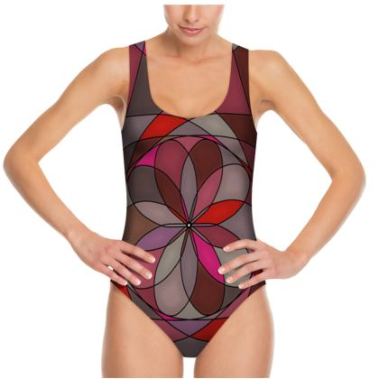 Swimsuit - Red Spiral