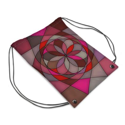 Swim Bag - Red Spiral
