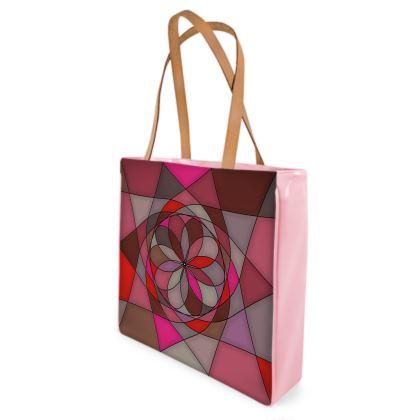 Beach Bag - Red Spiral