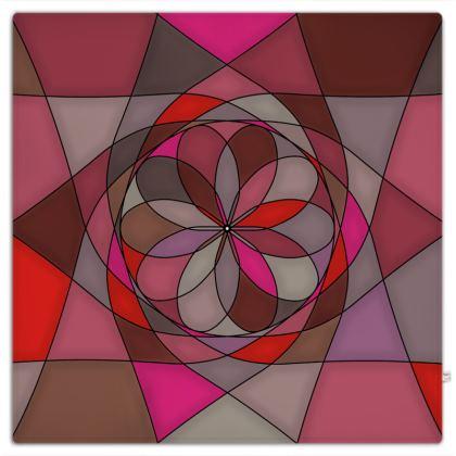 Picnic Blanket - Red Spiral