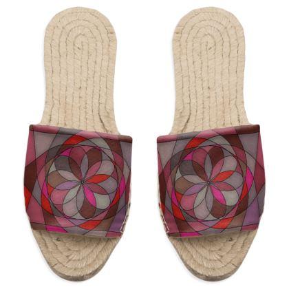 Sandal Espadrilles - Red Spiral