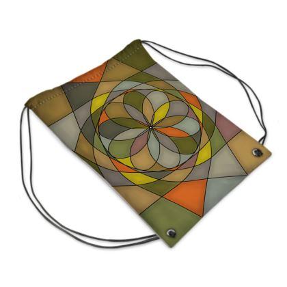 Swim Bag - Yellow Spiral