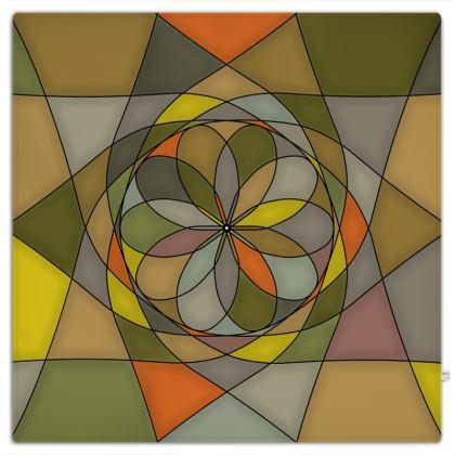 Picnic Blanket - Yellow Spiral