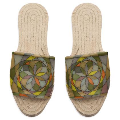Sandal Espadrilles - Yellow Spiral