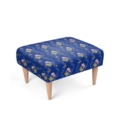 Bouquets And Butterflies Footstool