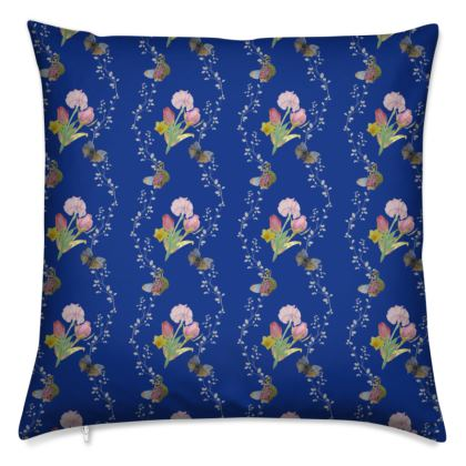 Bouquets And Butterflies Cushion