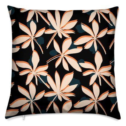 Tropical Leaf Print Cushion