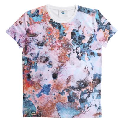 Cut And Sew All Over Print T Shirt  Watercolor Texture 10