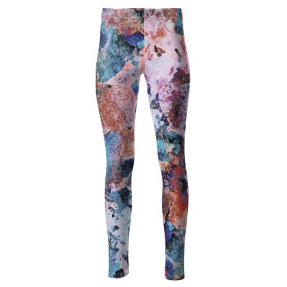 High Waisted Leggings Watercolor Texture 10