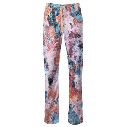 Womens Trousers Watercolor Texture 10