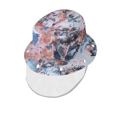 Bucket Hat With Visor Watercolor Texture 10