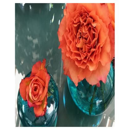 Trays - Rose 'Free Spirit' in Bud Vases
