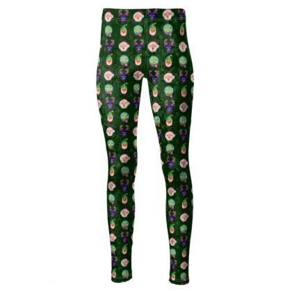 Illustrated Christmas Character High Waisted Leggings