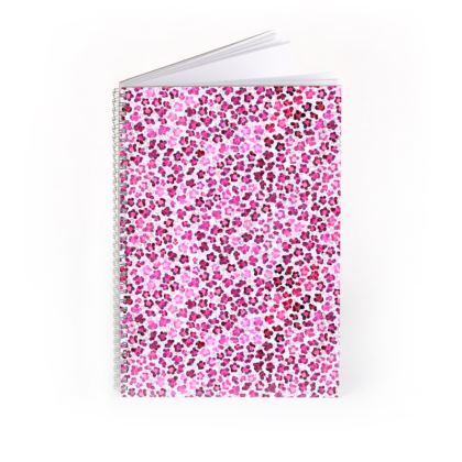 Leopard Skin in Magenta Collection Spiral Note Books