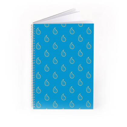 Paisley Drops on Petrol Blue Spiral Note Books
