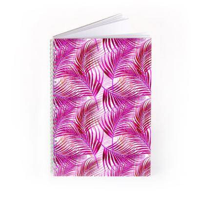 Tropical Garden Collection in Magenta Spiral Note Books