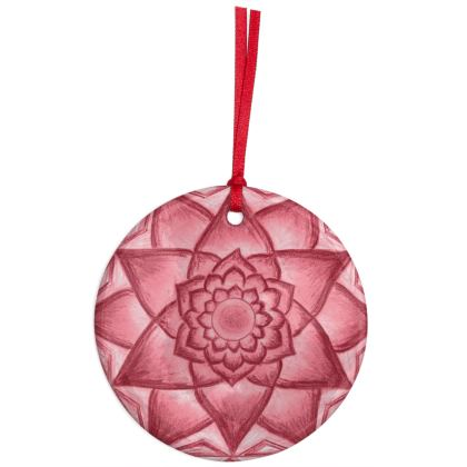 Christmas Ornaments Red Flower