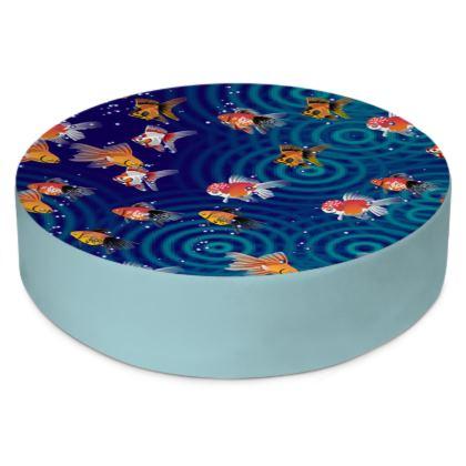 Round Floor Cushions Fish