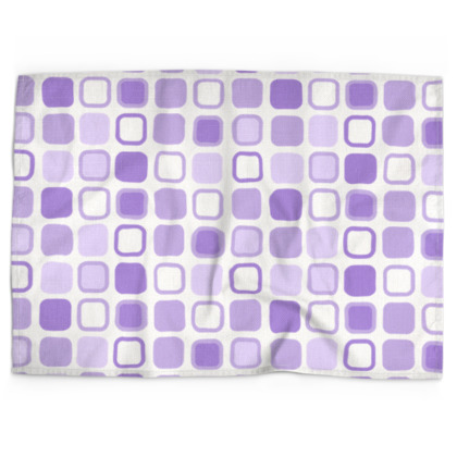 Retro Art Design Purple Tea Towels
