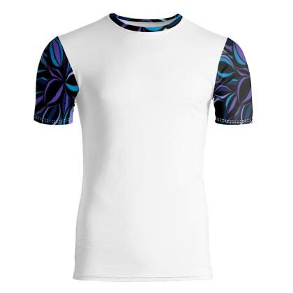 maglietta di cotone linea riflessi