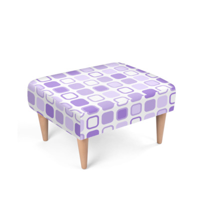 Retro Art Design Purple Footstool