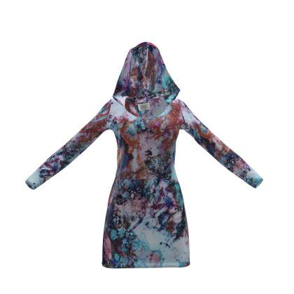 Hoody Dress Watercolor Texture 11 Rocks