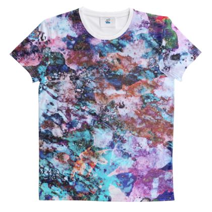 Cut And Sew All Over Print T Shirt  Watercolor Texture 11 Rocks