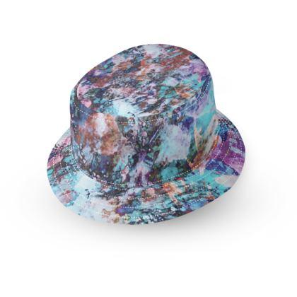 Bucket Hat With Visor Watercolor Texture 11