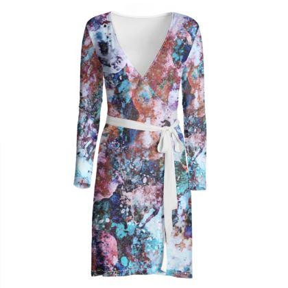 Wrap Dress Watercolor Texture 11