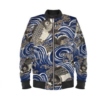 Koi Bomber Jacket (artistic Collection)