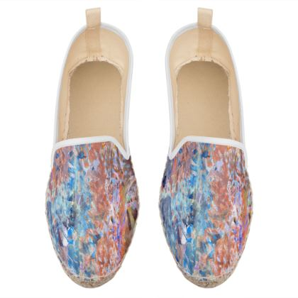 Loafer Espadrilles Watercolor Texture 1