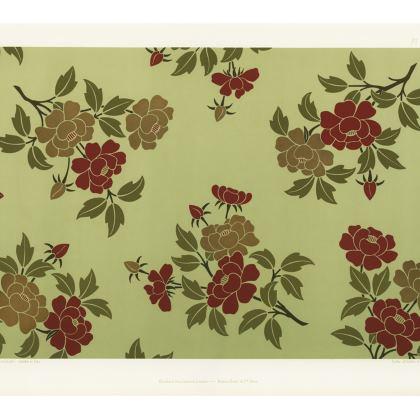 Asian Rose Luxury Leather Handbag