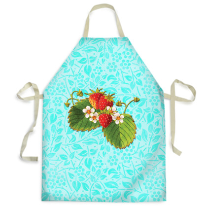 Strawberry on Aqua Aprons