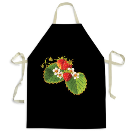 Strawberry Illustration Aprons