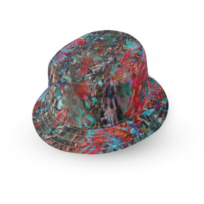 Bucket Hat With Visor Watercolor Texture 9