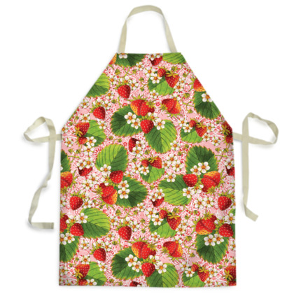 Pink Paisley Strawberries Aprons