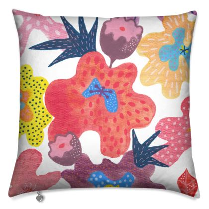 Luxury Cushion Berrylicious hand painted floral abstract