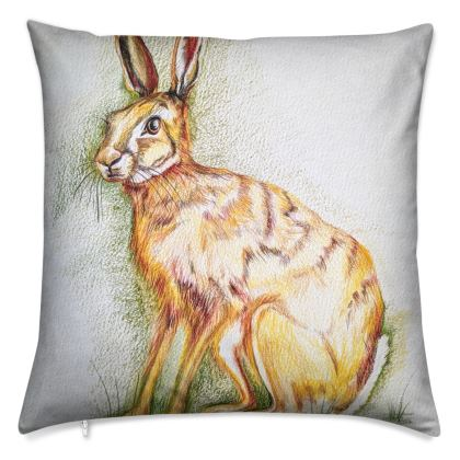 Handsome Hare Cushion by Alison