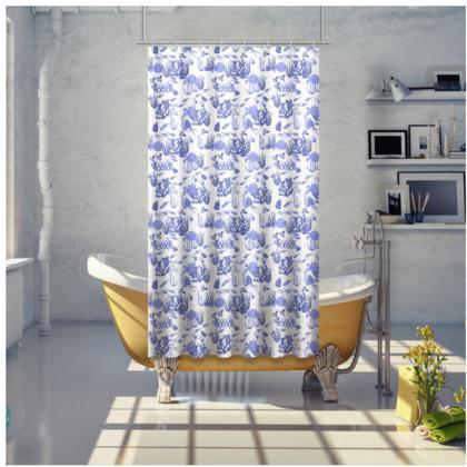Aquatic China Shower Curtain