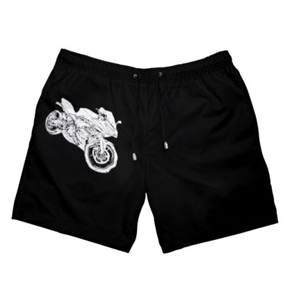 Men's Swimming Shorts - Superbike Sketch