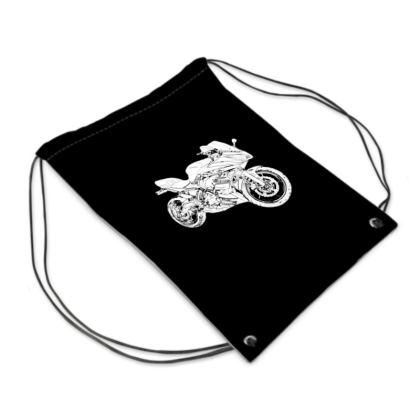 Swim Bag - Superbike Sketch