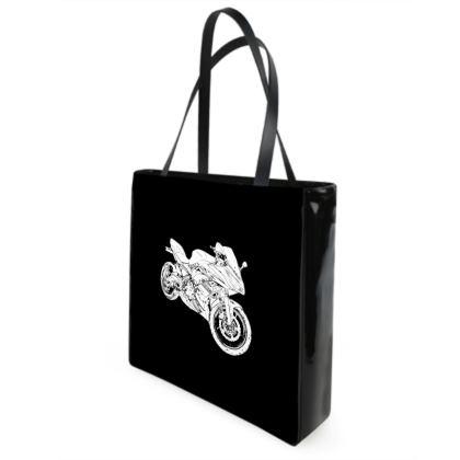 Beach Bag - Superbike Sketch