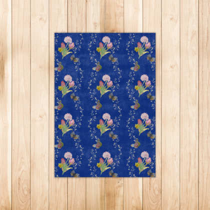 Bouquets And Butterflies Rug