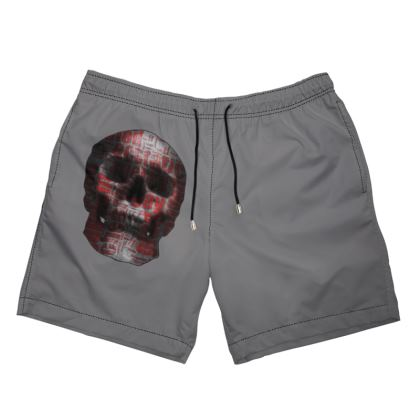 Men's Swimming Shorts - Cheerful Skull
