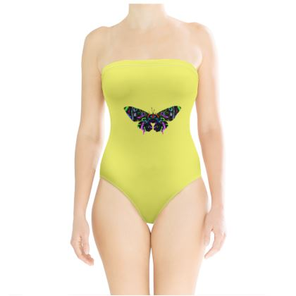 Strapless Swimsuit - Butterfly